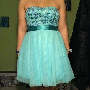Blue/Turquoise Semi Formal Dress